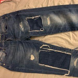 Madewell Slim Boyfriend Patch Jeans